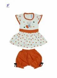 GIRLS PRINTED FROCK WITH BLOOMER