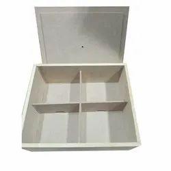 Square Wooden Storage Box