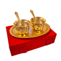 Traditional Gift Gold Plated Handi Set