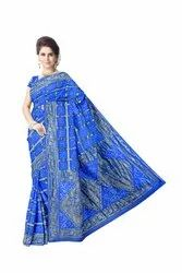 All Over Sky Blue Color Fancy Design Art Gaji Silk Bandhani Saree