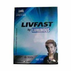 Luminous Livfast Bike Battery, Warranty: 48 Months, Model Name/Number: Lfbtx 2.5