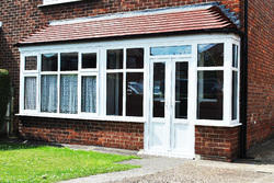 White UPVC Combination Windows, Glass Thickness: Standard