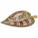 Marble Leaf Shape Sindoor Dani