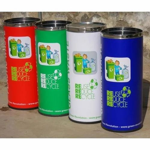 Color Coated Stainless Steel Dustbins