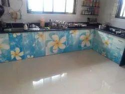 Digital Laminate Kitchen Trolley