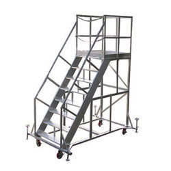 Aluminum Trolley Step Ladder