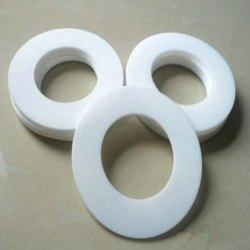 White Fete PTFE Gasket, Round, Size: 1 To 2 Inch(diameter)