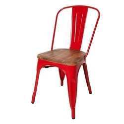 Red Polished Iron Tolix Chair