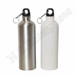 Aluminium White And Silver 750 Ml Single Sipper Bottle