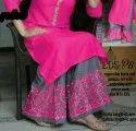 Ladies Pink Rayon Kurti & Palazzo