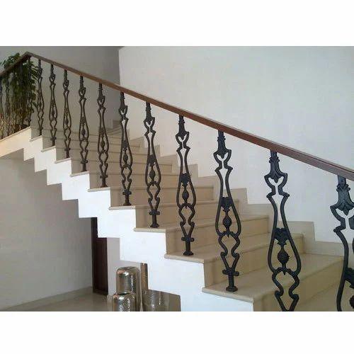 Panel Cast Iron Stylish Staircase Railing