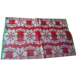 Red And White Polypropylene Prayer Mat