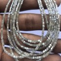 Natural Gray Diamond Faceted Box Cube Beads
