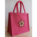 Jute Gift Bag With Over Rope Webbing Cotton