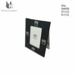 Vertical Photo frame - black and white with owl print