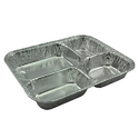 Four Compartment Aluminum Foil