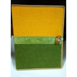 MUSTARD And GREEN JUTE CONFERENCE FOLDER