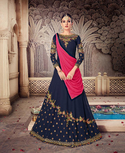 Georgette Partywear Embroidered Salwar Suit