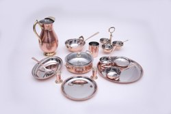 DINNER SET COPPER BRASS STAINLESS STEEL