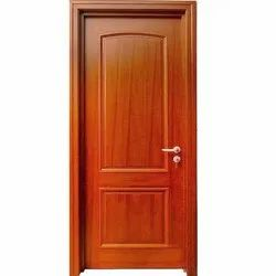 Brown Polished Wooden Door, Thickness: 32 mm