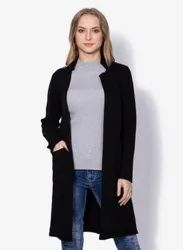 Ladies Black Knit Coat