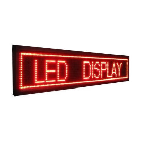 Stainless Steel LED Scrolling Display, Shape: Square