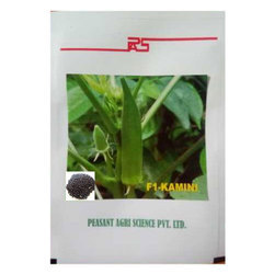 Peasant Hybrid Bhindi Seeds, Pack Size: 100 Seeds/Pouch