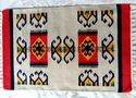 Sge Red & Black Cotton Flat Weave Rug