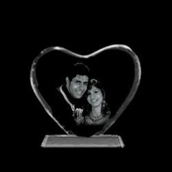 2D Heart Crystal Photo Frame
