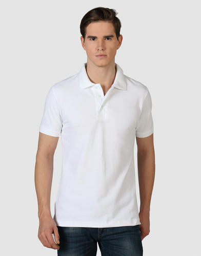 ed4f1131a Plain, Printed Casual , Party Wear White Polo Collar T Shirt, Rs 150 ...