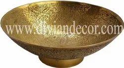 Antique Brass Bowl