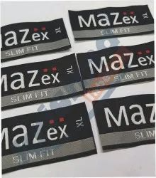 Multi Brand Black Woven Clothing Labels for Garments, Packaging Type: Packet