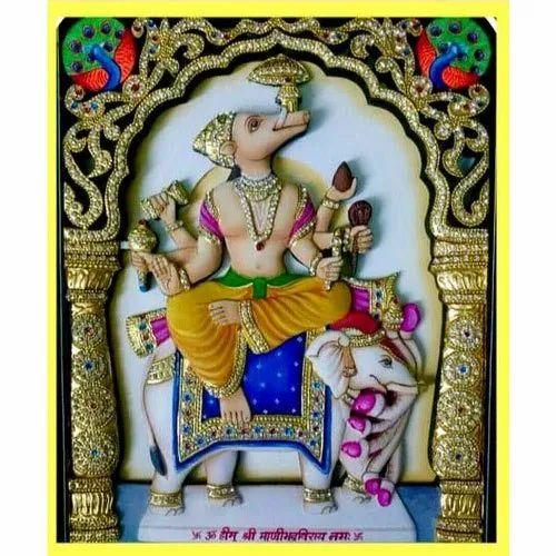 Wood Shri mani bhadra veer Painting, Size: 12x16