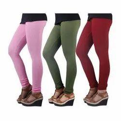 Plain Cotton Churidar Leggings, Size: M-XXL