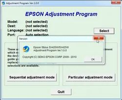 Epson L 380 Printers Resetters Softwares