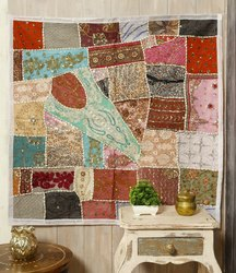 Beaded Patchwork Heavy Embroidered Tapestry