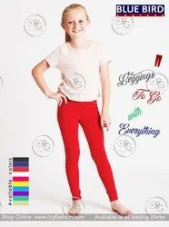 Casual Wear Party Wear Combed Cotton Legging For Kids & Girls