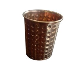 Hammered Copper Water Glass, Capacity: 300ml