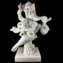 White Marble Dancing Ganesha Statue