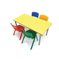 Wood Kids Table And Chair Set, Age: 1 to 3 Year