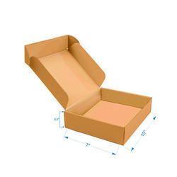 Brown Packaging Flat Corrugated Box 10 X 7 X3.5