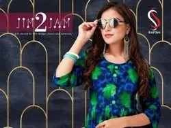 Jim Jam Vol 2-Rsf Fancy Casual Wear Rayon Printed Kurtis