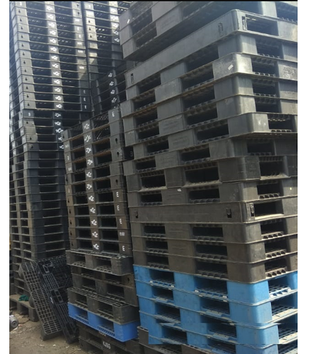 Used Plastic Pallets For Export Size 1100x1300x120mm