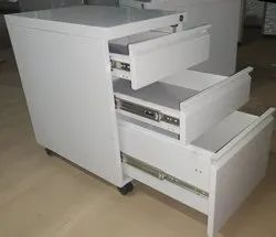 Federtek Grey Metal File Cabinet, For Workstation, No. Of Drawers: 3