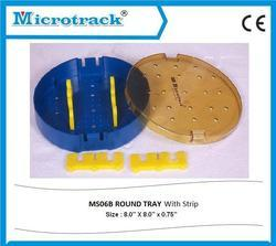 Round Tray With Silicon Strip Tray
