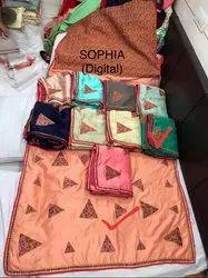 Ladies Printed Fancy Cotton Saree