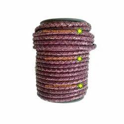 Antique Fuschia Braided Leather Cord
