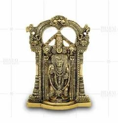 Gold Plated Lord Venkateswara Idol