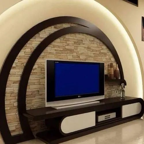 Wooden Wall Mounted Designer Led Tv Wall Unit Warranty 1 Year For Home Rs 65000 Piece Id 21045451662