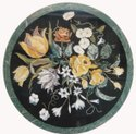 Marble and Flower Design Table Top